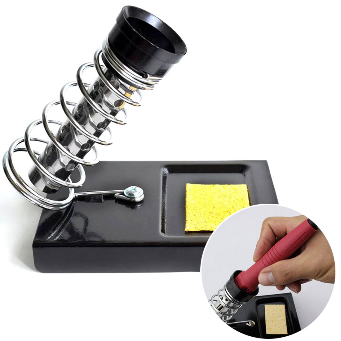 Soldering Iron Stand Holder Electric Soldering Irons Base Station High Temperature Resistance