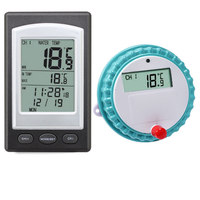 Wireless Thermometer with LCD Receiver Waterproof Temperature Meter for Swimming Pool Spa Hot Tub ALS88