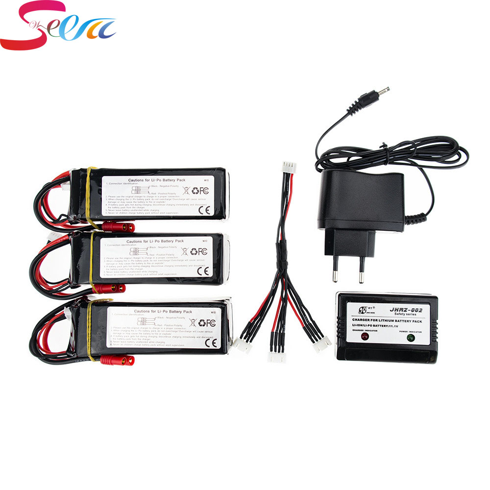 Walkera QR X350 PRO Lipo battery 3pcs and charger with cable 11.1V 5200Mah 3S 15C RC Drone Quadcopter parts