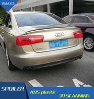 For 16 Audi A6 Spoiler 2017 ABS Material Car Rear Wing Primer Color AUDI A6L Rear Spoiler For Audi A6L Spoiler 2017