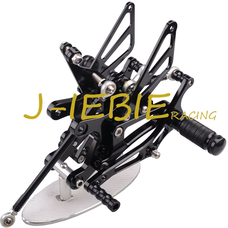 CNC Racing Rearset Adjustable Rear Sets Foot pegs Fit For Yamaha YZF R1 2004 2005 2006 BLACK titanium cnc aluminum racing adjustable rearset foot pegs rear sets for yamaha mt 07 fz 07 mt07 fz07 2013 2014 2015 2016