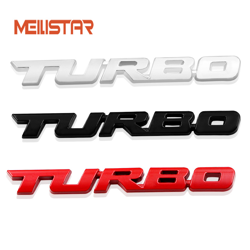 3D Car Styling Sticker Metal TURBO Emblem Body Rear Tailgate Badge For Ford Focus 2 3 ST RS Fiesta Mondeo Tuga Auto Accessories