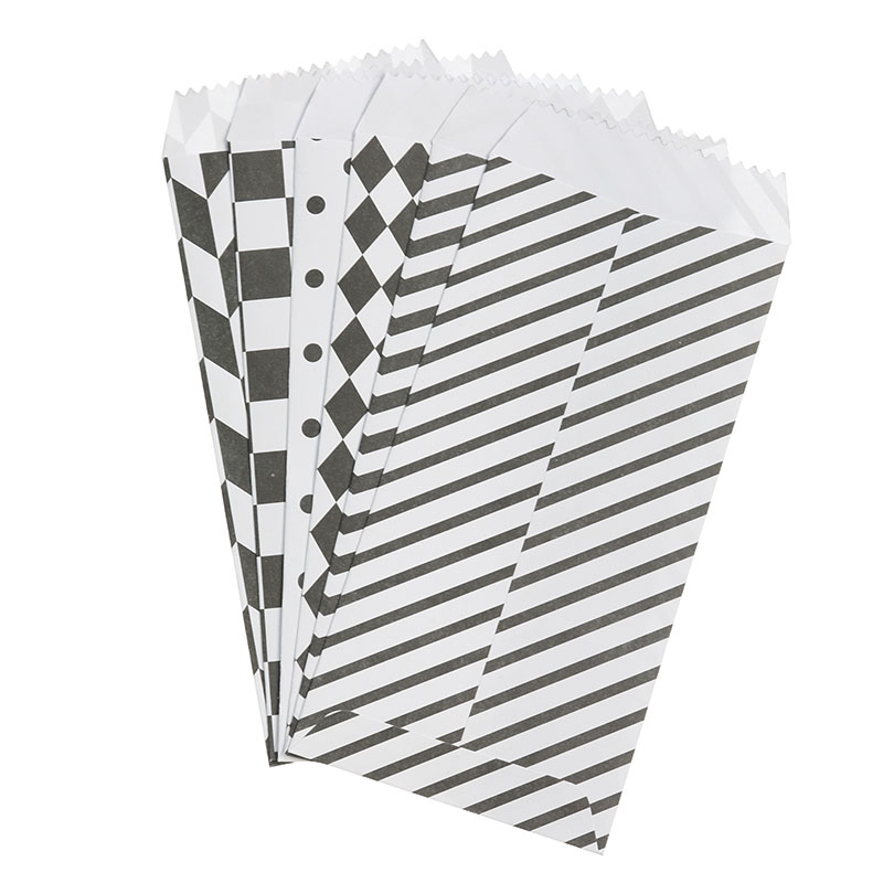 6pcs/Pack Cute Cartoon Chinese Envelope Classic Black And White Envelope Children Craft Gift Stationery School Office Supplies