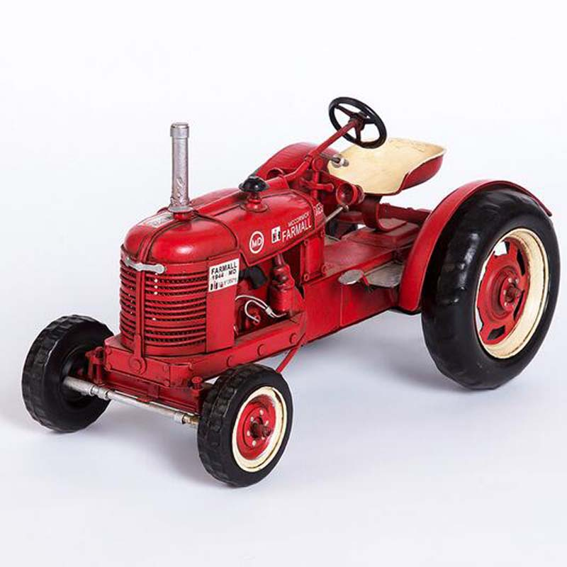 New Simulatio Vintage Tractor Model Vehicles Metal Toy Educational Decor Vehicle Christmas Birthday Gift Toy Collection the new hot promotions 1 30 military vehicles dongfeng 11a missile launch vehicle model alloy office decoration