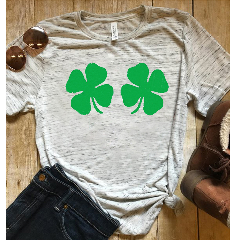 24ce3e679 let's get shamrocked St pattys day shirt funny St patricks day tshirt  graphic tees women streetwear green harajuku luck girl-in T-Shirts from  Women's ...