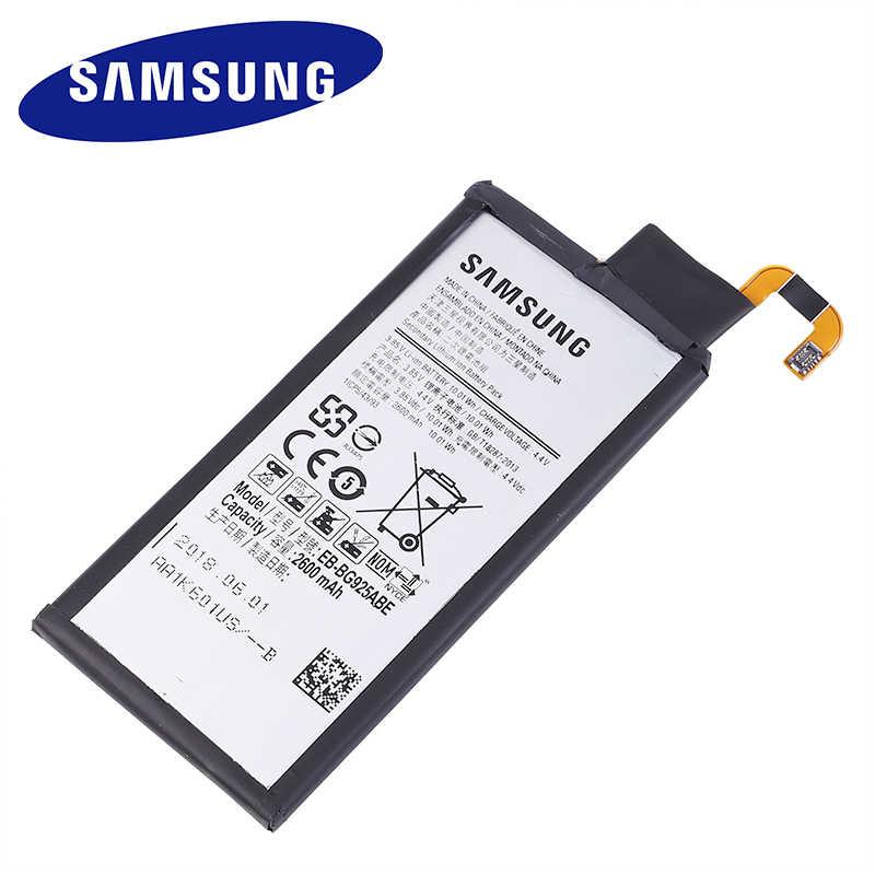 EB-BG925ABE Originele Vervangende Batterij Voor Samsung GALAXY S6 Rand G9250 G925FQ G925F G925S S6Edge G925V G925A 2600mAh