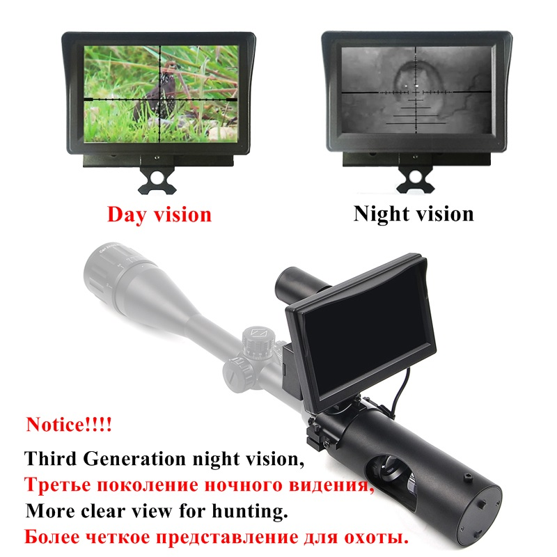 200M New Third Generation Night Vision Riflescope Hunting Day and Night Riflescope Tactical Digital Infrared Night