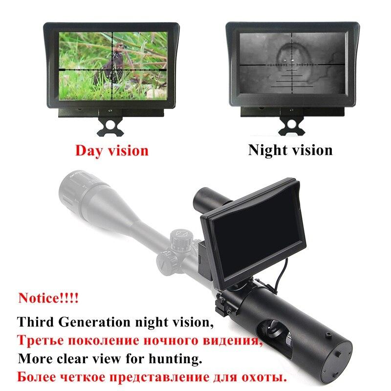 200M New Third Generation Night Vision Riflescope Hunting Day and Night Riflescope Tactical Digital Infrared Night Hunting Scope наволочки с вашим текстом day and night