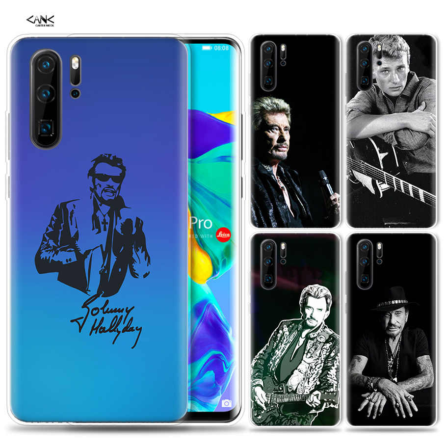 Case for Huawei P30 P20 P10 P9 Mate 10 20 Lite Pro Mobile Cell Phone Bag P Smart Z 2019 Plus Johnny Hallyday Music Forever P8 P3