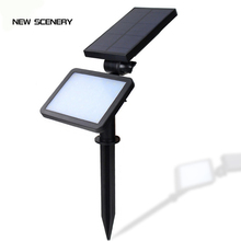 New scenery 48LED outdoor lighting on solar energy lamp powered garland LED floodlights spotlight with sensor