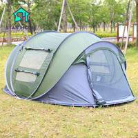 New Arrival Large Throw Tent Outdoor 3 4 Persons Automatic Open Throwing Pop Up Waterproof Beach