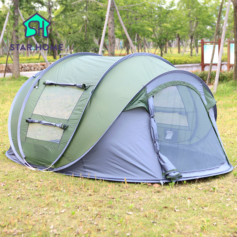 Star Home Large throw tent outdoor 3-4 persons automatic open throwing pop up waterproof beach camping tent 2 second open 4 4 electric violin solid wood 7 8 silvery more color 4 string