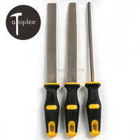 Atoplee 3PCS 8 Wood Rasp File Set Steel Milling Cutter For Wood Grinding Making Model Woodworking