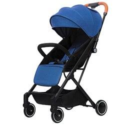 Luxe Kinderwagen 2 in 1 Lichtgewicht Kinderwagen Wandelen Opvouwbare Travel System Kinderwagens Voor Pasgeborenen Baby Trolley Vervoer