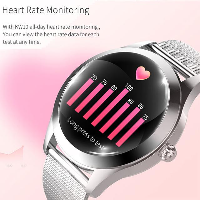 LEMFO KW10 Smart Watch Women 2019 IP68 Waterproof Heart Rate Monitoring Bluetooth For Android IOS Fitness Bracelet Smartwatch