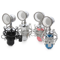 High Quality BM8000 Professional Sound Studio Recording Condenser Microphone With 3 5mm Plug Stand Holder Metal