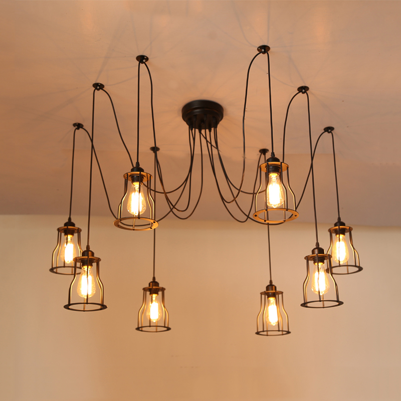 DIY vintage E27 pendant lamp edison loft chandelier headlight office bar club restaurant living room foyer cafe lights droplight loft industrial rust ceramics edison pendant lights vintage retro cafe bar club aisle living room bedroom pendant lamp decor