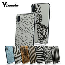 Yinuoda Zebra Stripe Painted cover Colourful Style Design Cell Phone Case For Apple iphone 5 5s SE 5C X XS XR 7 8plus 6s 6s Plus цена