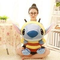 Lilo And Stitch 1pcs 50cm Bee Stitch Cosplay TV Stuffed Soft Plush Toys Cartoon Toy For