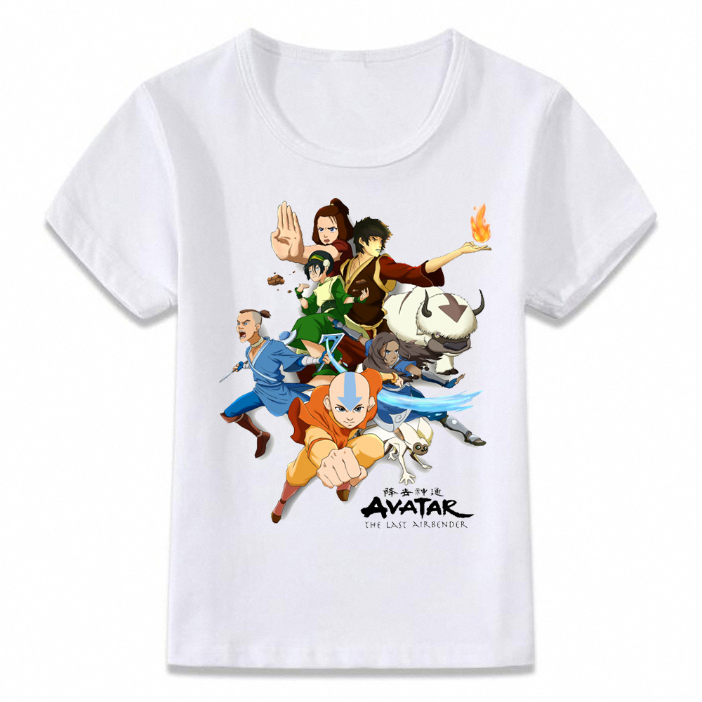 Kids Clothes T Shirt Avatar The Last Airbender T-shirt For Boys And Girls Toddler Shirts Tee Oal165