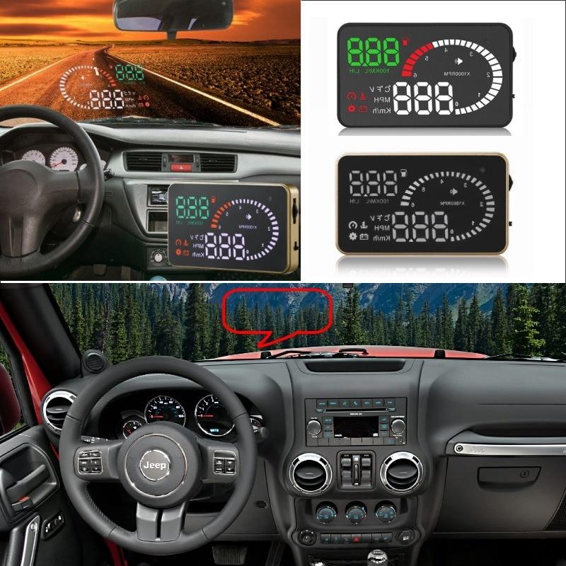 2017 Jeep Cherokee Accessories >> Liislee Car HUD Head Up Display For Jeep Wrangler JK Renegade Compass Grand Cherokee Safe Screen ...