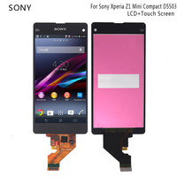 4.3'' LCD For Sony Xperia Z1 Mini Compact D5503 M51W LCD Display Touch Screen Digitizer Assembly Phone Parts Free shipping Tools