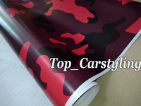 Red Black Large Camouflage Vinyl Car Wrap Film Camo Car Sticker Motorcycle Truck Wrap Air Bubble