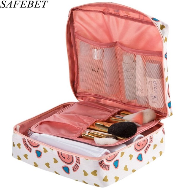 SAFEBET Brand Women Cosmetic Bag Multifunction Organizer Waterproof  Portable Makeup Bag Travel Necessity Beauty Case Wash Pouch-in Cosmetic Bags    Cases ... 899e670febbbe