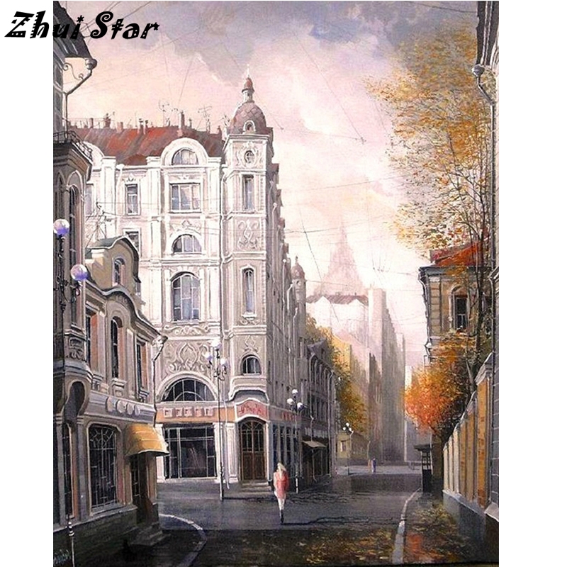 NEW Full Square Drill 5D DIY Diamond Painting the view of the city Embroidery Cross Stitch Mosaic Rhinestone Home Decor FC1813