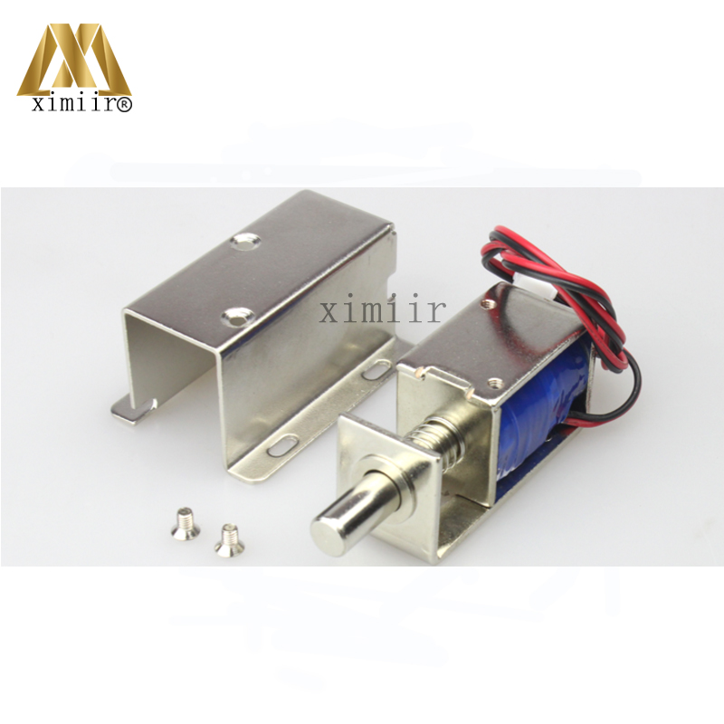 12V Small Electric Control Lock Small Electric Lock Electric Cabinet Lock Electromechanical Lock Drawer Lock Door Control Lock free shipping 10pcs diy abs material dc12v supermarket cabinet lock cabinet lock drawer small electric lock