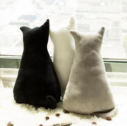 45cm super cute soft plush back shadow cat seat sofa pillow cushion stuffed cartoon pillow creative.jpg 250x250