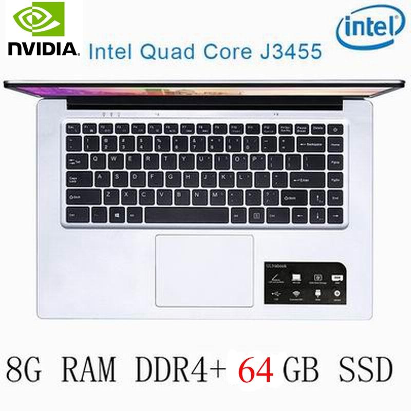 8g ram P2-33 8G RAM 64G SSD Intel Celeron J3455 NVIDIA GeForce 940M מקלדת מחשב נייד גיימינג ו OS שפה זמינה עבור לבחור (1)