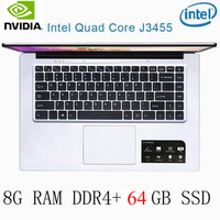 os זמינה P2-33 8G RAM 64G SSD Intel Celeron J3455 NVIDIA GeForce 940M מקלדת מחשב נייד גיימינג ו OS שפה זמינה עבור לבחור (1)