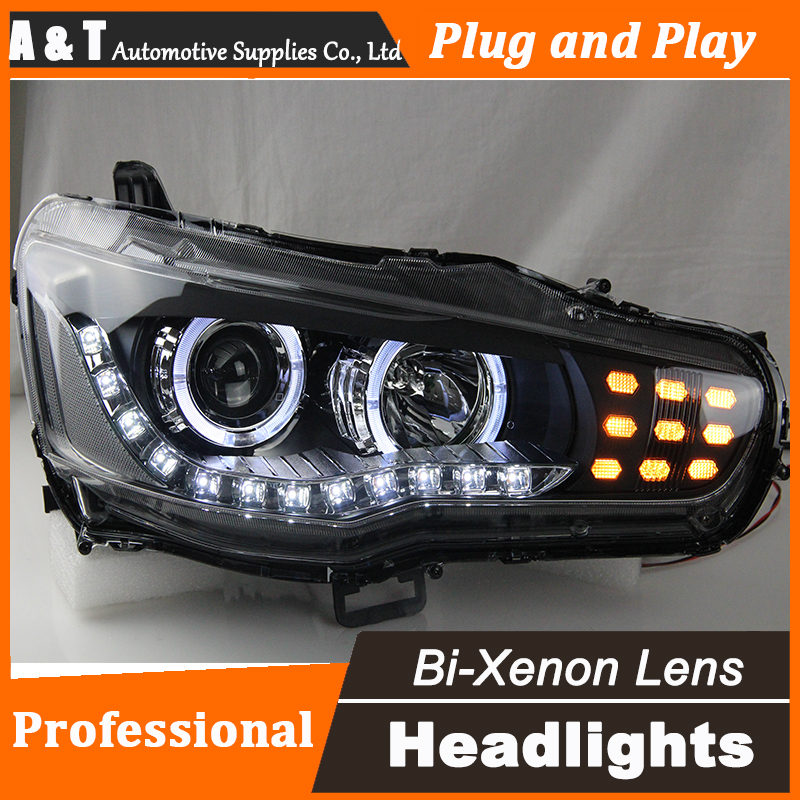 Car Styling for Mitsubishi Lancer EX Headlights LED Headlight DRL Lens Lancer EX Double Beam H7 HID Xenon bi xenon lens high quality car styling case for mitsubishi lancer 2010 2013 headlights led headlight drl lens double beam hid xenon
