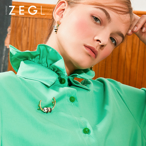 Image 2 - ZEGL дизайнерская брошь в виде панды, милый свитер, эмаль, украшение, креативные, дикие, фиксированные булавки для одежды