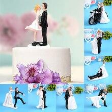 Элегантный синтетический смоляной свадебный торт Топпер Свадебные украшения Статуэтка подарок на день Святого Валентина обручение Декор юбилей