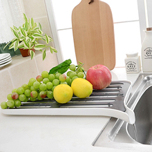 New Arrival Free Shipping Kitchen Cabinet Plastic Dish Rack Dish Drying Rack Fruit Dring Kitchen Sets House Decor