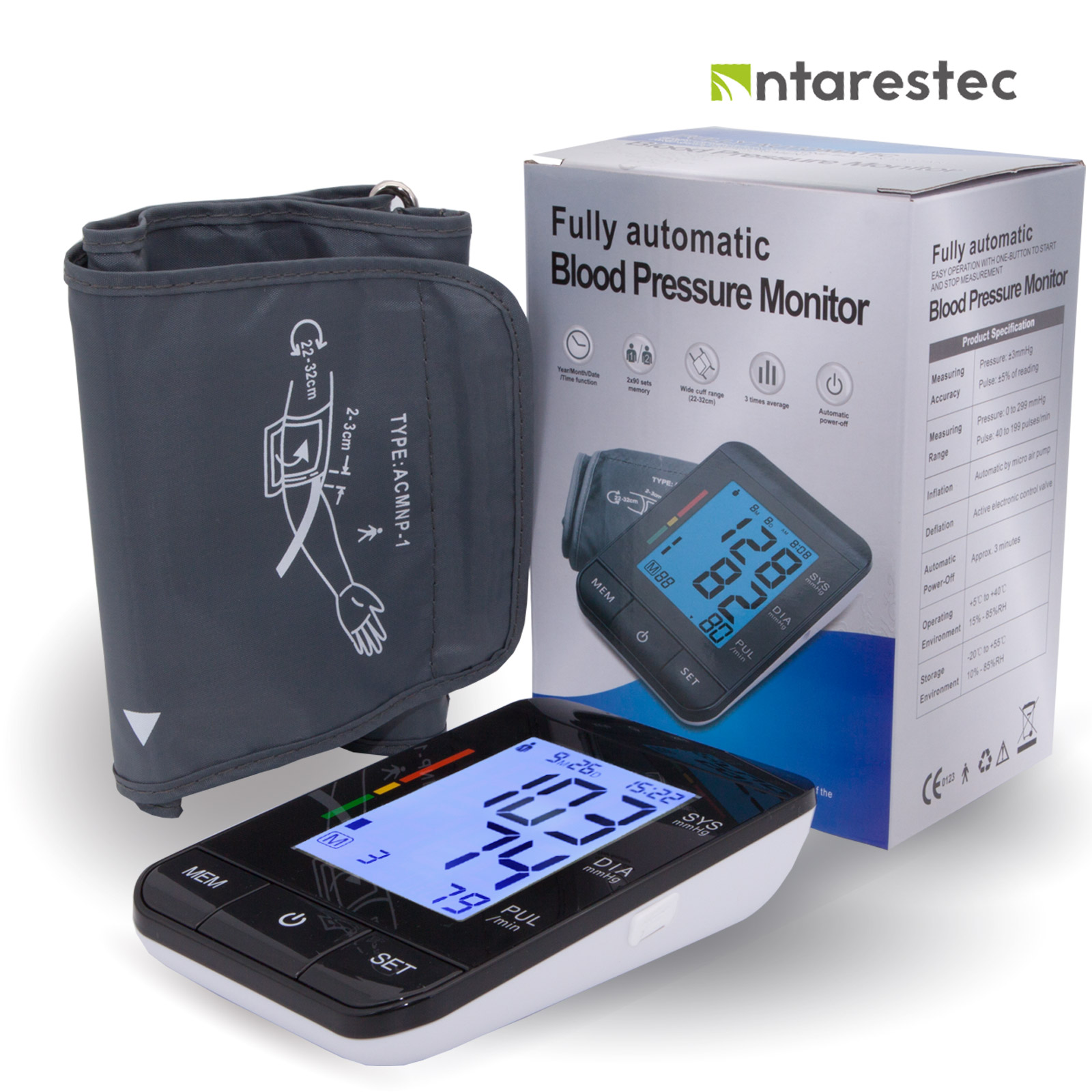 Auto Digital Upper Arm Blood Pressure Monitor Large Cuff Heart Beat Meter font b Machine b