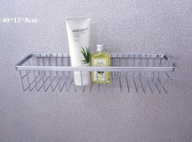 Stainless steel 1 tier towel rack bathroom storage holder wall mount basket shelves for shampoo soap dish toilet accessories