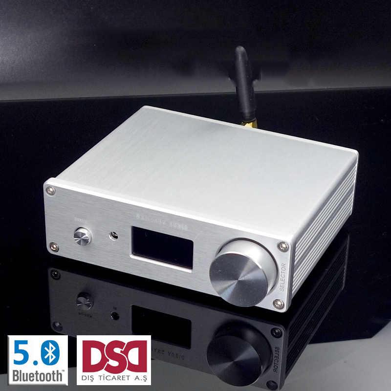 デュアルコア AK4493 DSD Usb 光学式同軸 bluetooth 5.0 オーディオデコーダ oled キーボード DC 12V 以上 ES9038Q2M