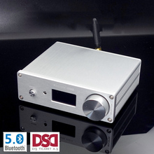 Dual-core AK4493 DSD USB Optical coaxial bluetooth 5.0 audio decoder with OLED Keyboard DC 12V more than ES9038Q2M