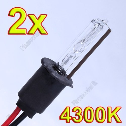 2x H3 4300K Xenon Bulbs Car Head Light HID Lamps 35W Kit Free Shipping