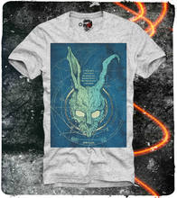 E1syndicate T-Shirt Donnie Darko Frank Rabbit Skull Grey S-XL (1284g)(China)