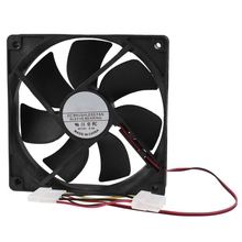 PC Brushless DC Cooling Fan 4 Pin Connector 7 Blades 12V 12cm 120mm цена и фото
