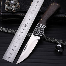 2018 New Hot Sale High Quality Outdoor Fixed Tactical Folding Fruit Knife Survival Pocket Camping Wood Handle Hunting Knives 015 new hot k315b beast straight knife tactical knives survival knives outdoor hunting knives wood handle tools
