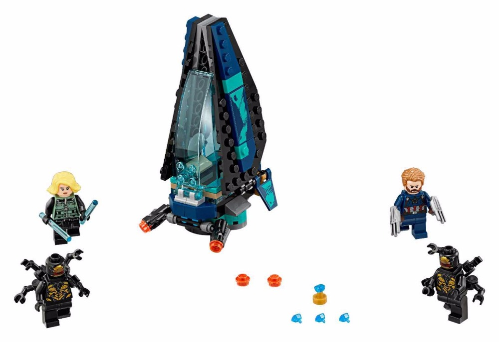 US $8 81 11% OFF|07104 134pcs Super Heroes Avengers Infinity War Outrider  Dropship Attack toys For Children Gift Building Blocks-in Blocks from Toys  &