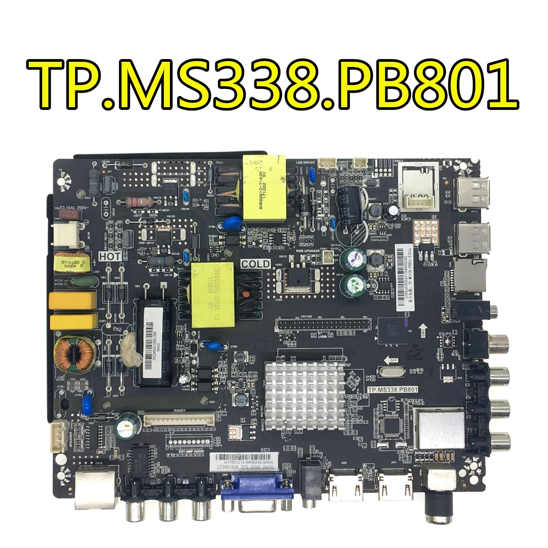 Nouveau et original pour LEHUA TP. MS338.PB801 Android smart TV trois en un réseau carte mère travail divers écrans.
