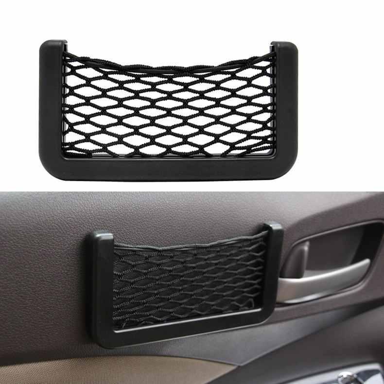 Автомобильная сетка для хранения сумка сетчатый карман органайзер беспроводной инфракрасный датчик, который крепится для Hyundai solaris задний спойлер для volkswagen bmw e34 Fiat Tipo lifan dacia зарядное устройство peugeot 307