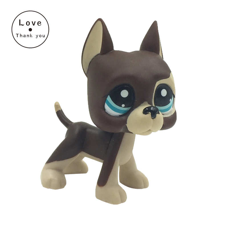 pet shop lps toys GREAT DANE #817 BIS brown dog blue eyes lps new style lps toy bag 32pcs bag little pet shop mini toy animal cat patrulla canina dog action figures kids toys
