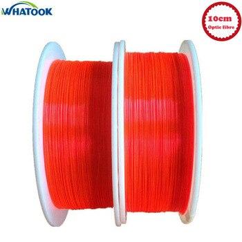 10 cm PMMA fluorescente fibra óptica 3,0mm Cable óptico LED rojo Neno para luces de cierre de pistola decoración del hogar